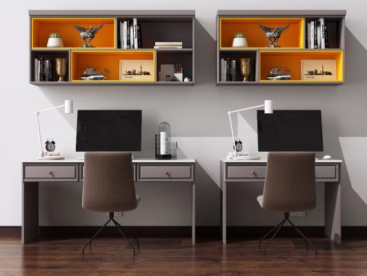 现代书桌椅组合 电脑桌 写字桌