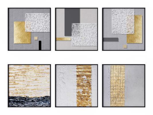 现代装饰画 建筑画 抽象画