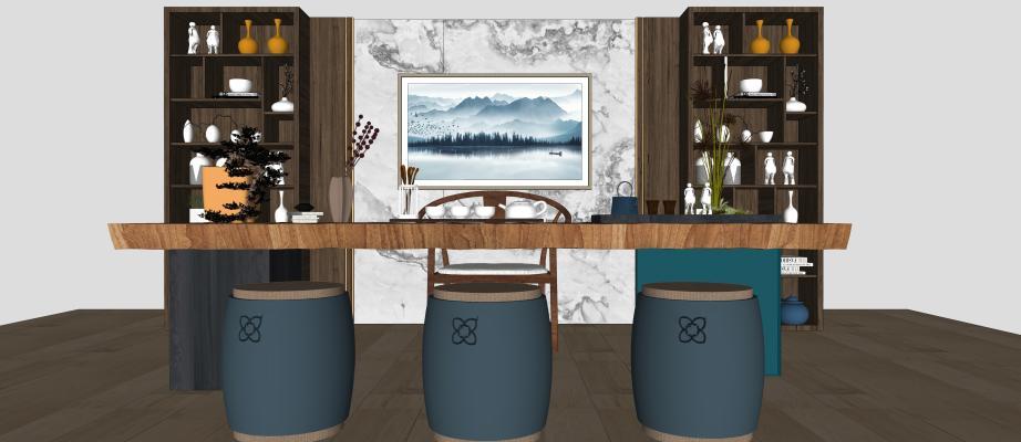 现代品茶室 茶台组合