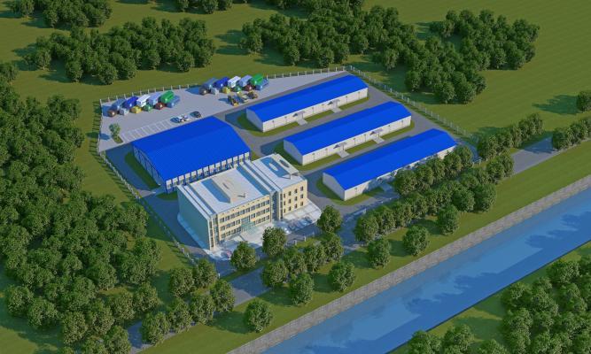 現代廠房 工業園 倉庫
