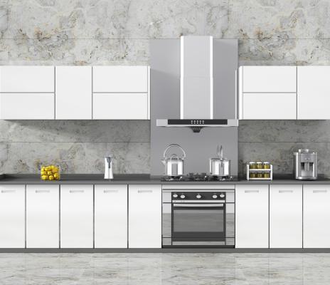现代厨房厨柜厨房器具烤漆门板