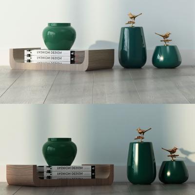 现代陶瓷 摆件组合