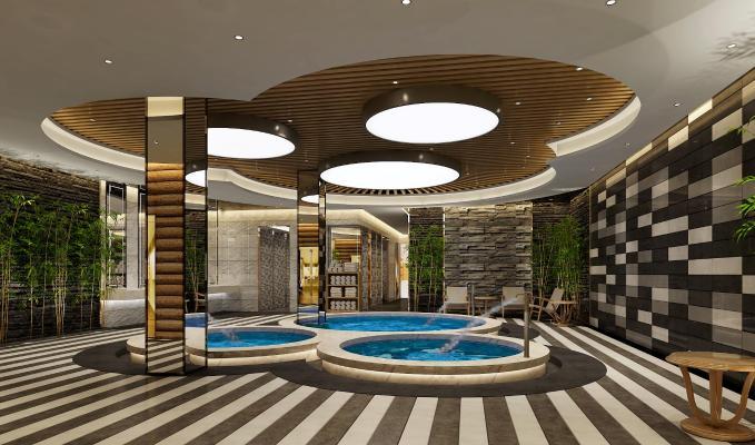 现代洗浴中心 水池