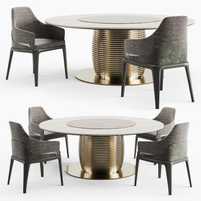 现代圆形餐桌椅