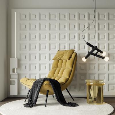现代休闲椅 吊灯 边几