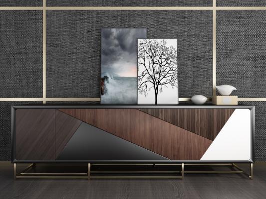 现代装饰柜边柜电视柜