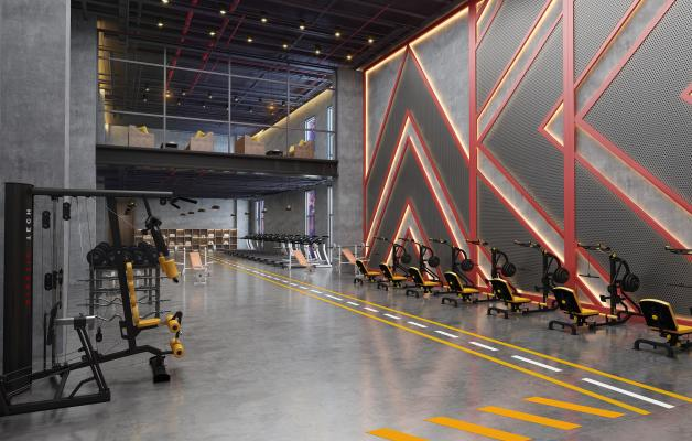 工業風健身房