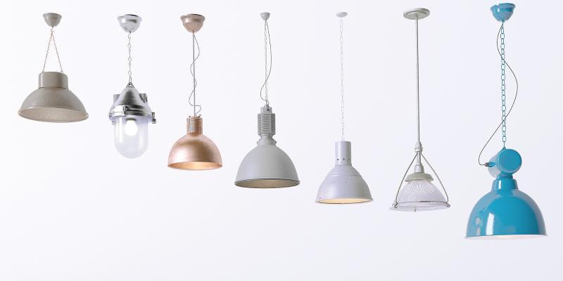 工业风吊灯 筒灯 射灯