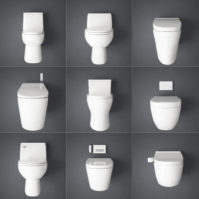现代马桶组合 卫浴用品
