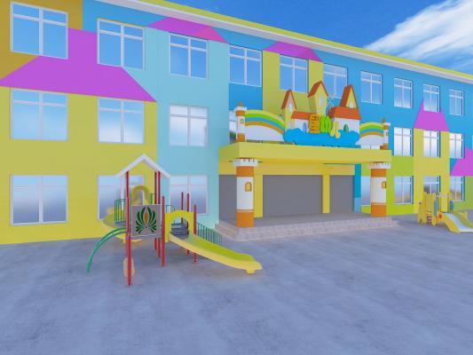 幼儿园外墙门头