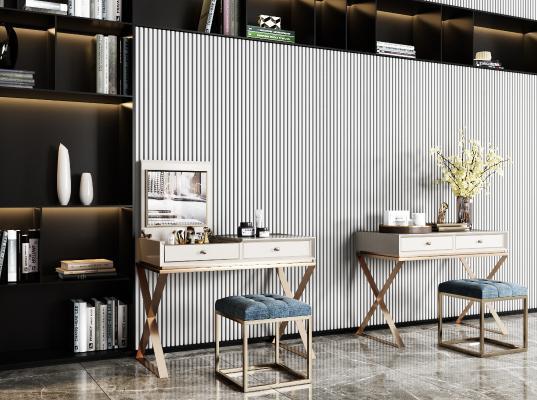 現代風格梳妝臺 妝椅
