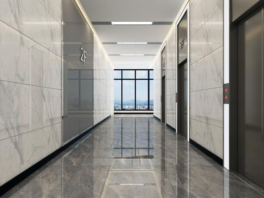 现代风格电梯间 电梯按钮 电梯套