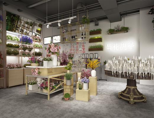 现代风格鲜花店