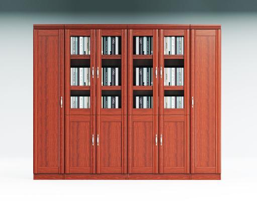 新中式传统办公书柜 木质书橱 文件柜