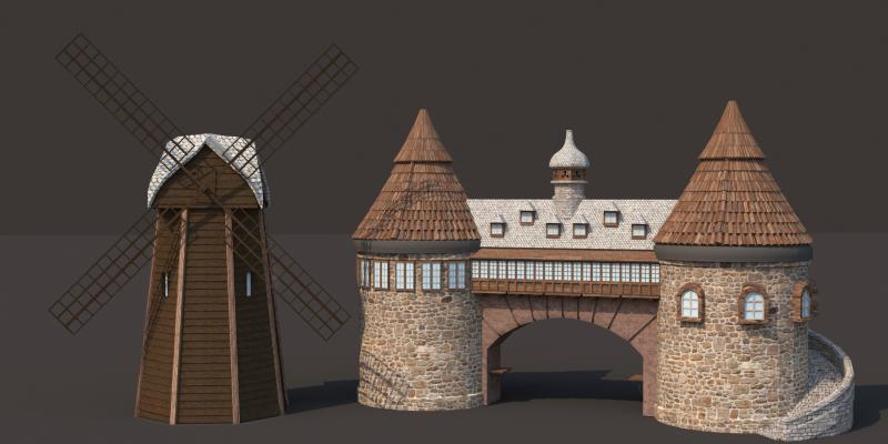 法式別墅 風車 城堡