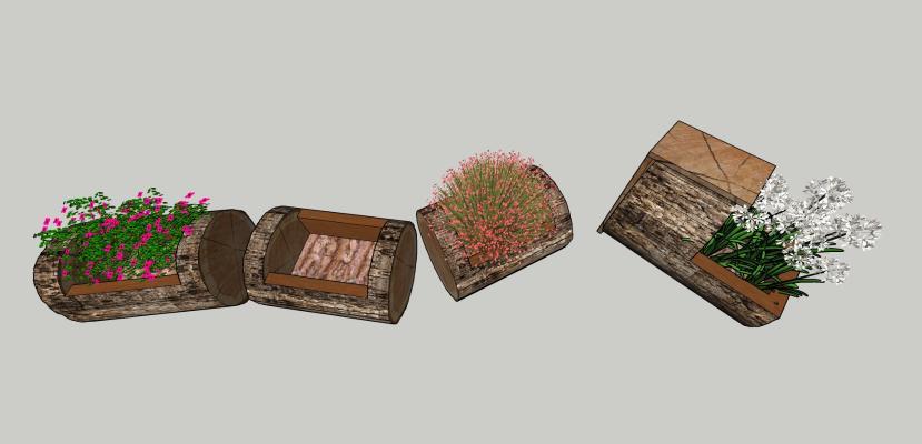 现代风格盆栽 植物花草组合