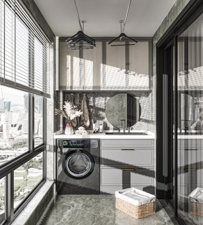 现代阳台 阳台柜 储物柜