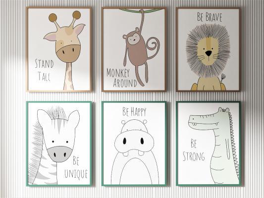 北欧风格儿童装饰画