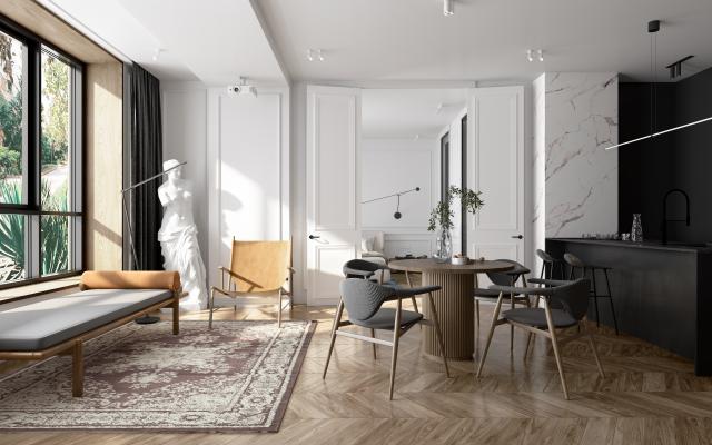 欧式 法式 公寓客餐厅