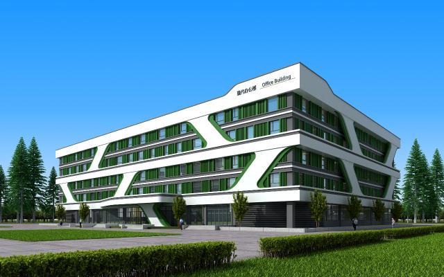现代办公楼 科技办公楼 多层办公楼