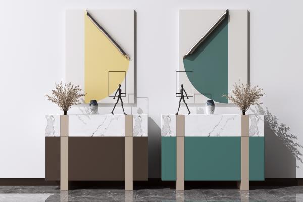 现代北欧餐边柜组合 矮柜 端景柜