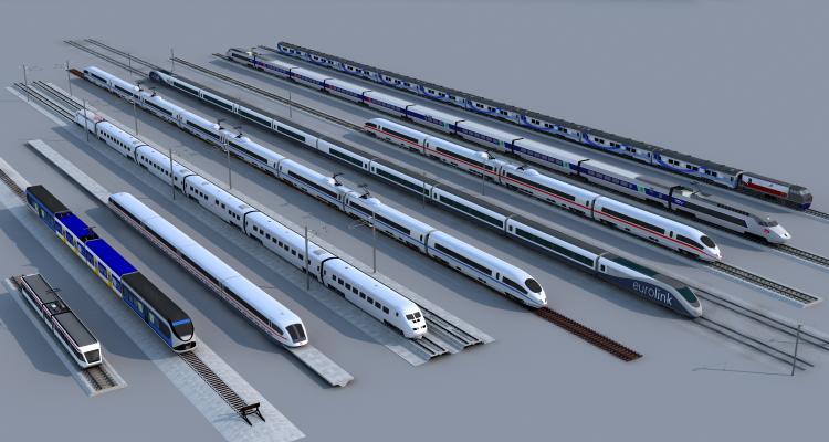 现代火车 高铁 轻轨