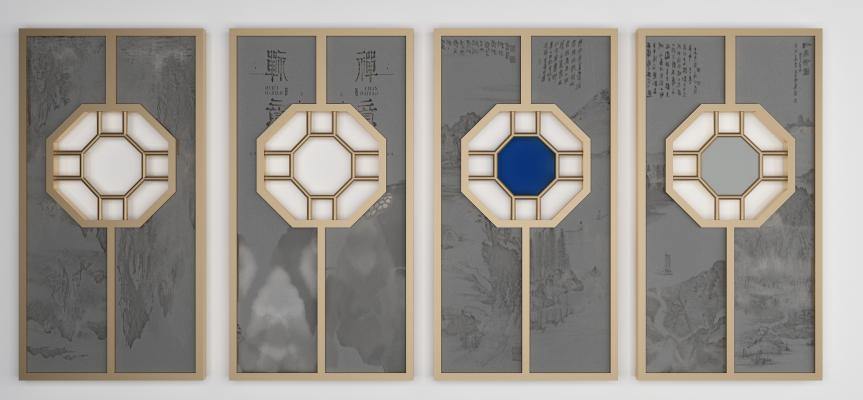新中式屏风装饰