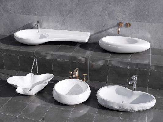 现代洗手盆 台盆 陶瓷台盆