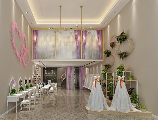 现代婚纱店 展厅