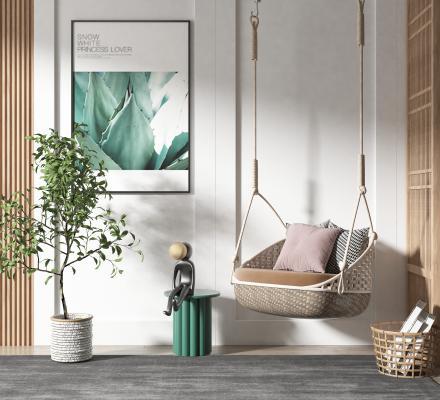 北欧风格吊椅