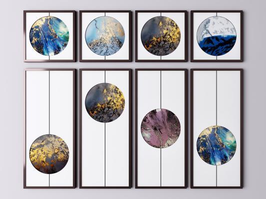 新中式装饰画 抽象画 山水画