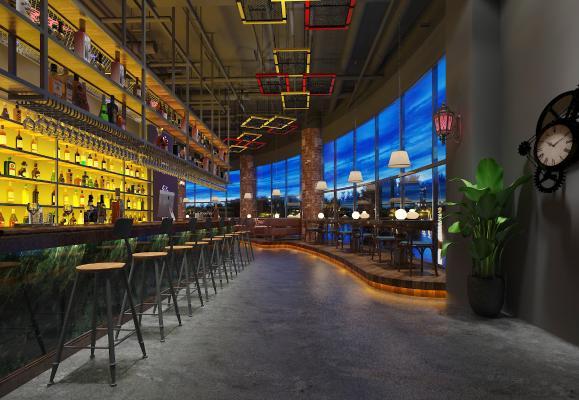 工业风酒吧 吊灯 壁灯