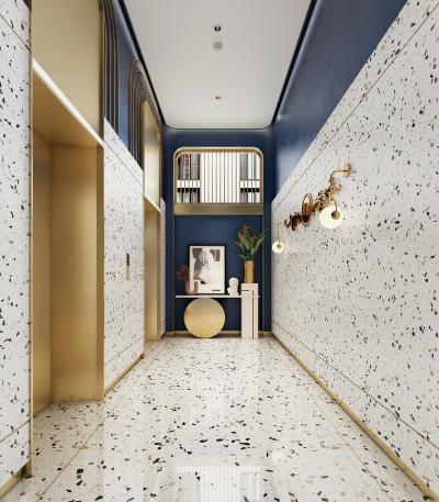 法式酒店电梯厅