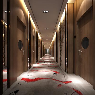 新中式洗浴城过道