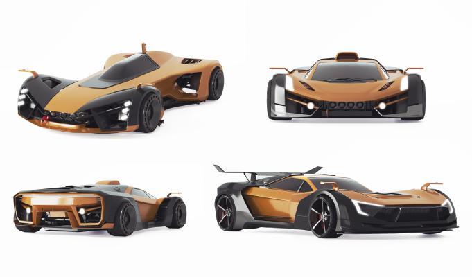 现代概念跑车