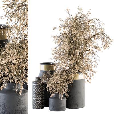 現代干枝花瓶