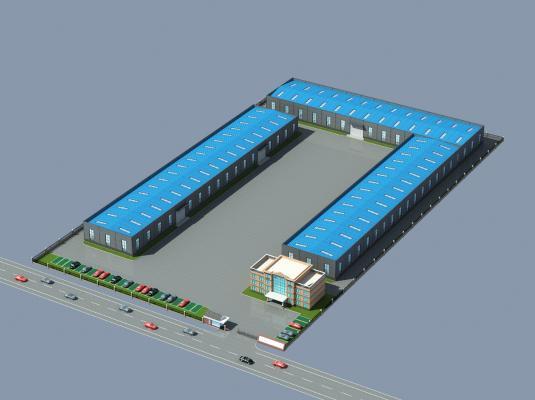 工业厂区鸟瞰图