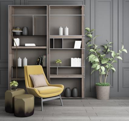 现代装饰柜 休闲椅组合