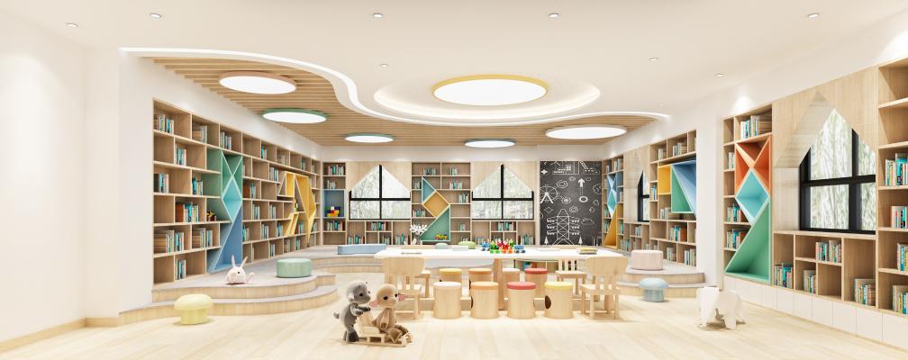 现代学校阅读室