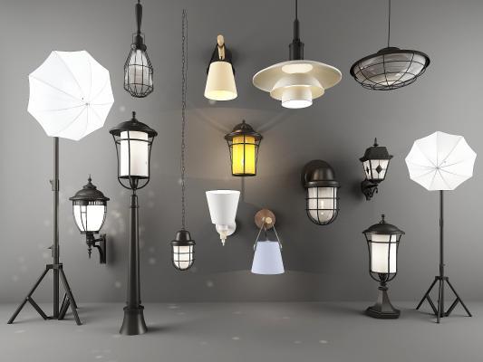 工业风壁灯 落地灯 吊灯