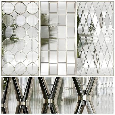 现代玻璃隔断 屏风