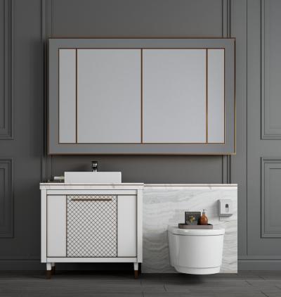 现代大理石洗手台 洗手柜 洗手盆 镜子