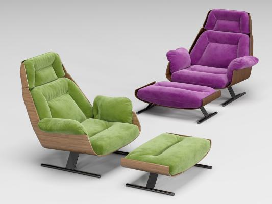 现代简约躺椅 懒人沙发椅 休闲椅