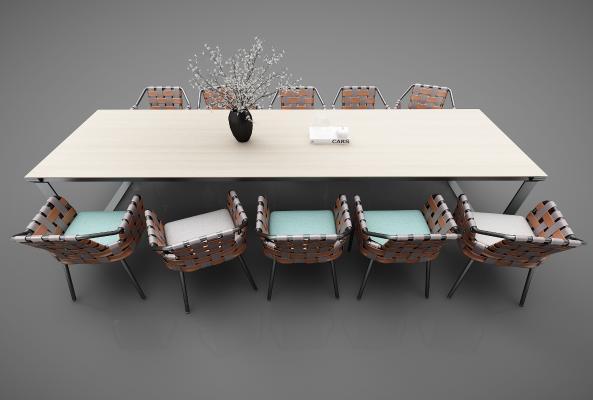 工业风格会议桌