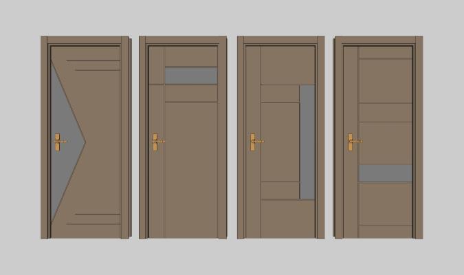 现代实木烤漆房门