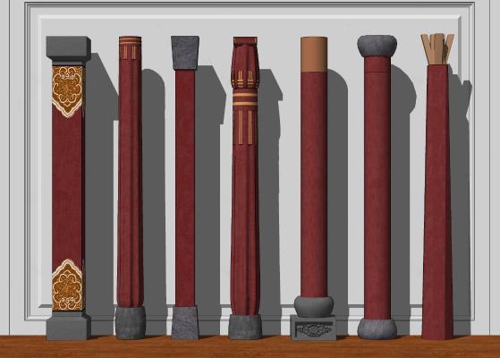 新中式柱子 实木立柱