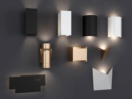 现代简约金属质感壁灯