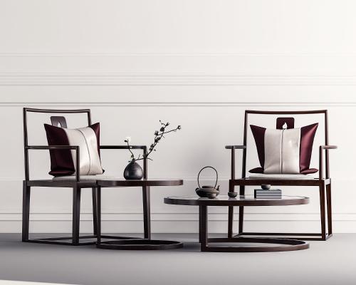 中式椅子茶几