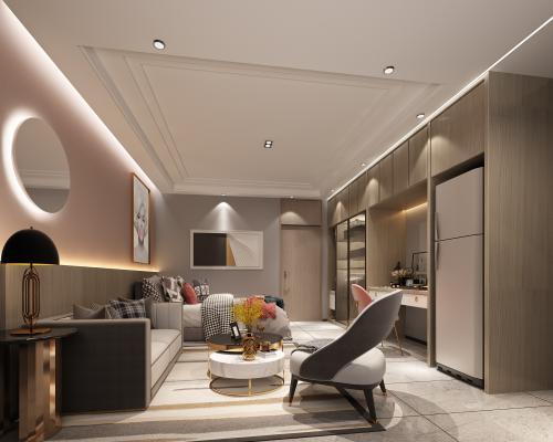 现代酒店公寓单人间