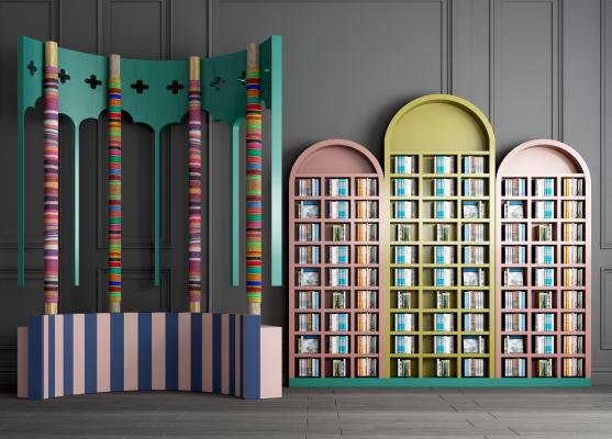 现代儿童书柜 书架 读物